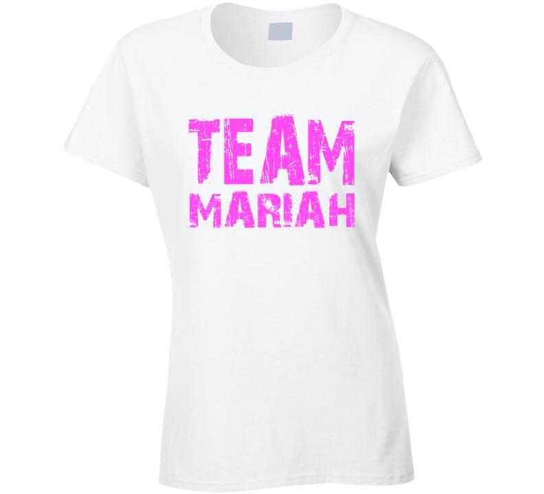 Team Mariah New Years Eve concert lip sync pro Mariah fan t-shirt