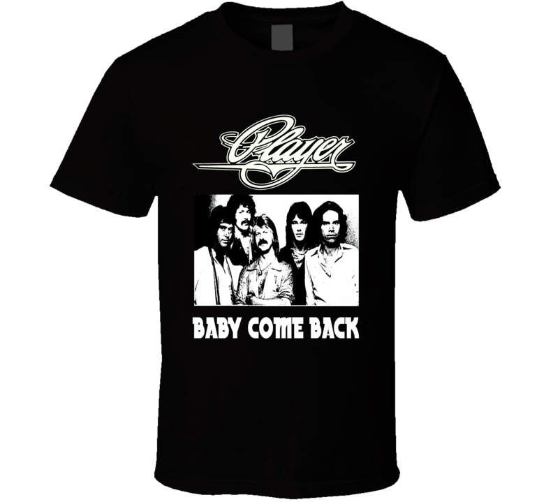 Player retro 70s rock band Baby Come Back vintage style concert t-shirt