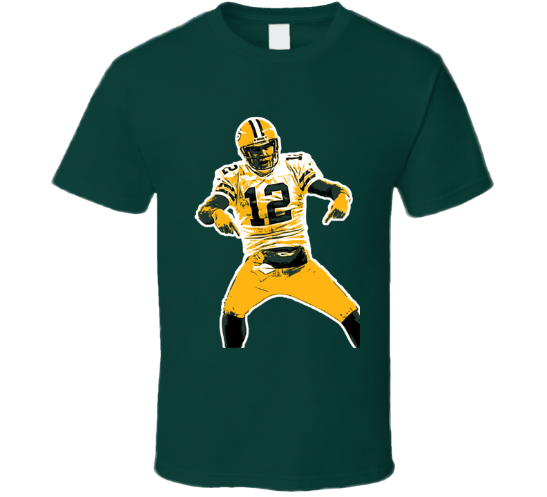 Aaron Rodgers Green Bay Packers QB Football play offs fan t-shirt