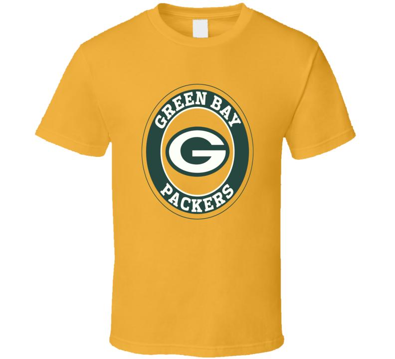 Green Bay Packers football fan logo jersey style t-shirt