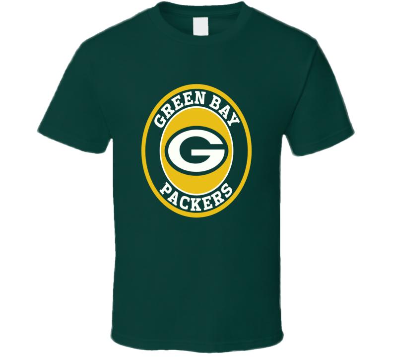 Green Bay Packers football fan logo jersey style t-shirt 2