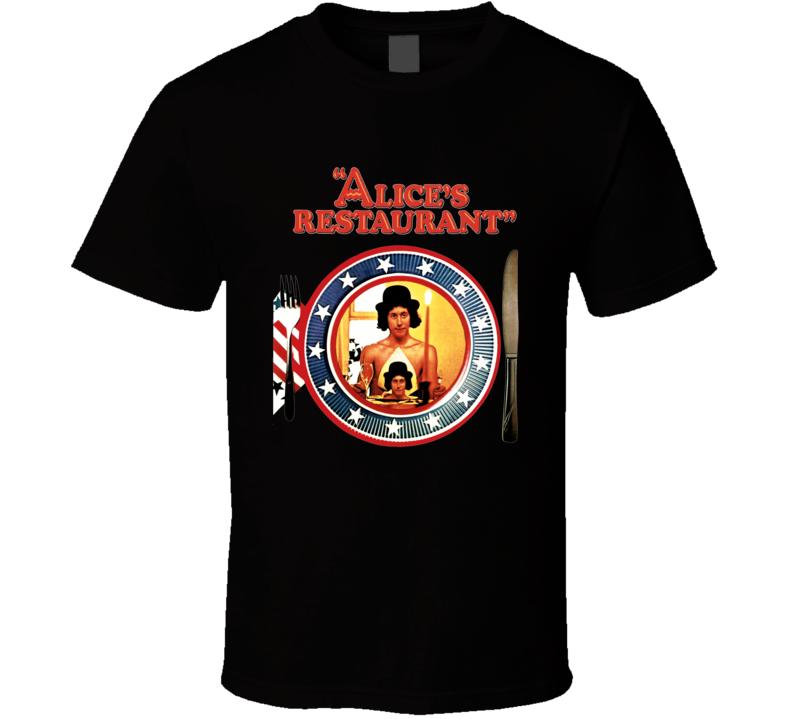 Alice's Restaurant 60s Arlo Guthrie folk music hippie retro T Shirt