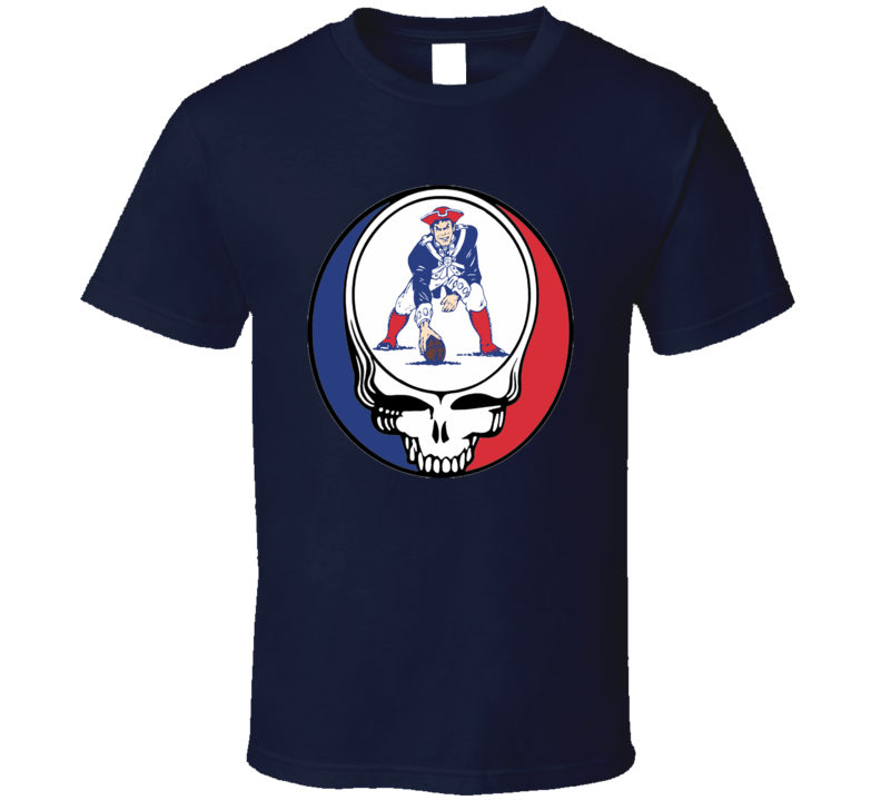 Patriots Steal Your Face NFL football rock and roll fan t-shirt