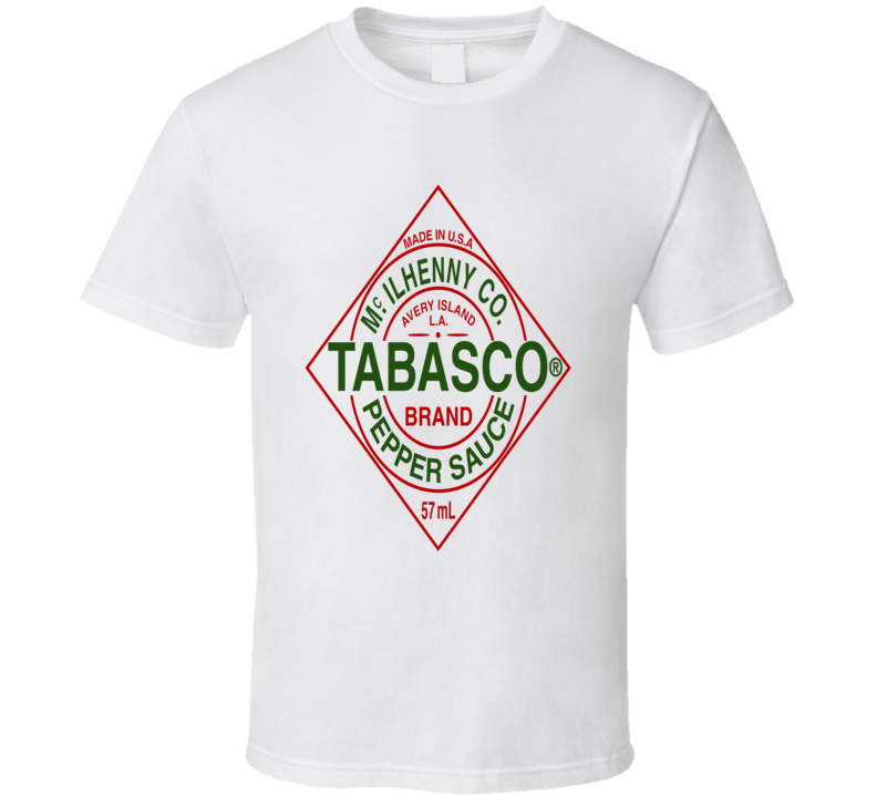Tabasco hot pepper sauce buffalo wings food brand t-shirt