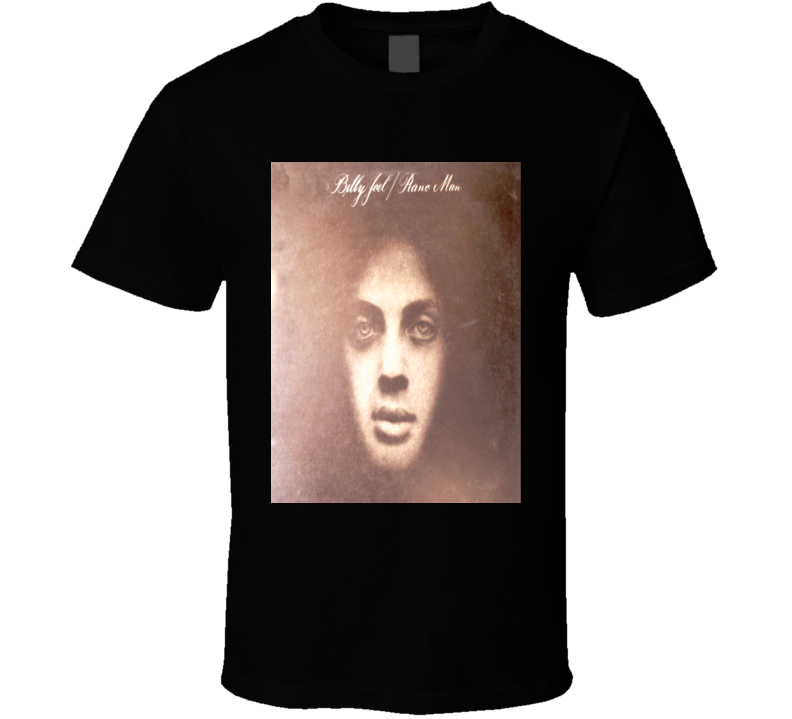 Billy Joel Piano Man cover distressed album style t-shirt wow