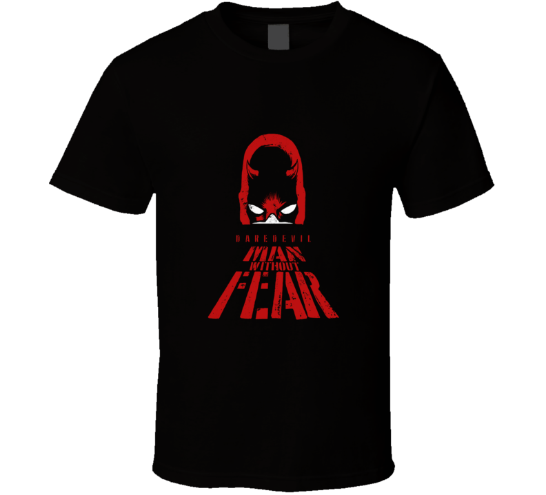 Daredevil cartoon comic superhero fan distressed vintage style t-shirt