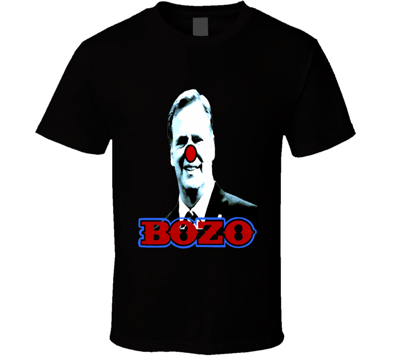 Roger Goodall Bozo the Clown funny pro-Patriots NFL Super Bowl t-shirt