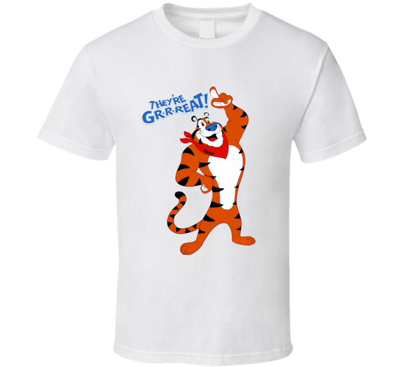 Tony the Tiger they're great retro cereal mascot frosted flakes t-shirt