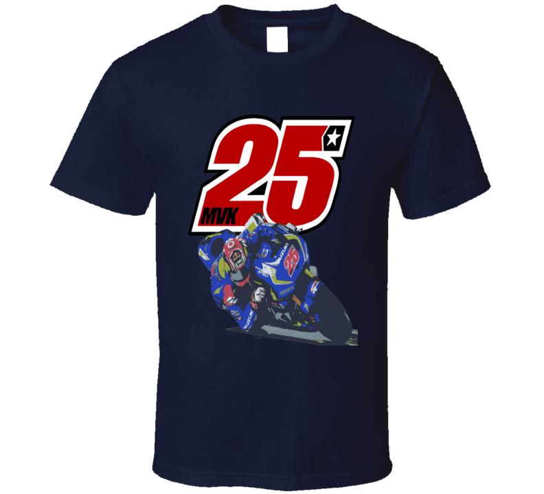 Maverick Vinales MotoGP #25 Yamaha motorcycle racing fan t-shirt