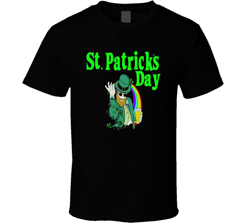 St. Patrick's Day Beer Bae Salt guy leprechaun clover club t-shirt