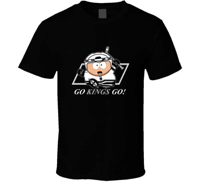 Cartman LA Kings t-shirt Southpark TV Go Kings Go hockey