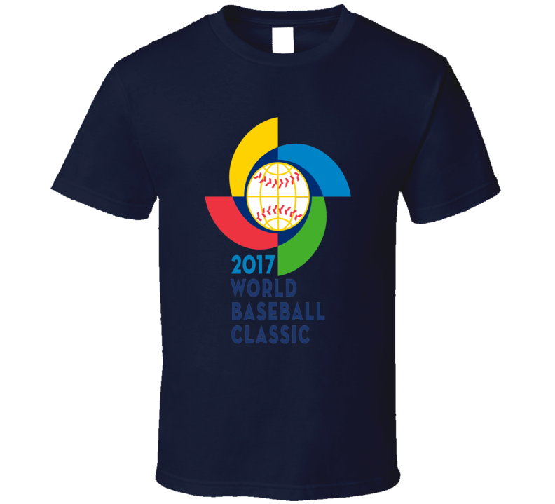 World Baseball Classic 2017 logo WBC sports fan t-shirt 2