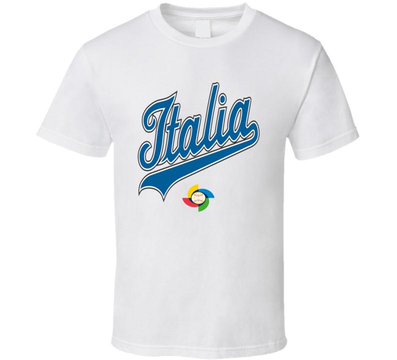 World Baseball Classic 2017 Italy Italia logo fan t-shirt