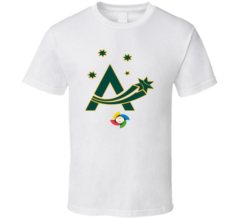 World Baseball Classic 2017 Australia Aussie logo fan t-shirt