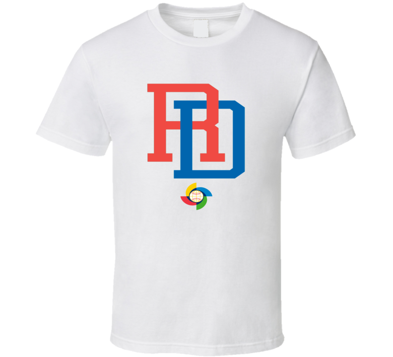 World Baseball Classic 2017 Dominican Republic Dominicana logo fan t-shirt