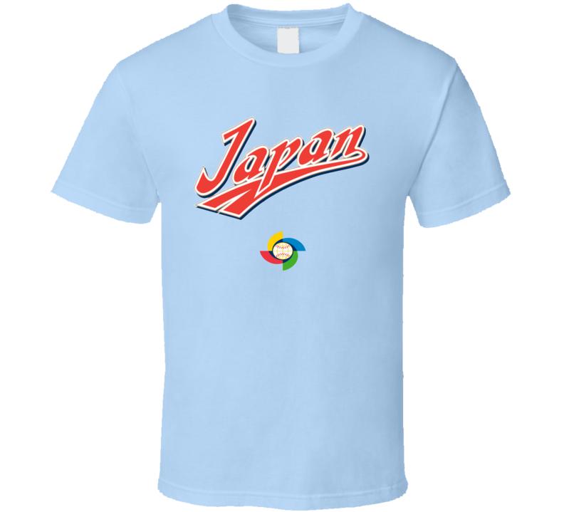 World Baseball Classic 2017 Japan logo fan t-shirt