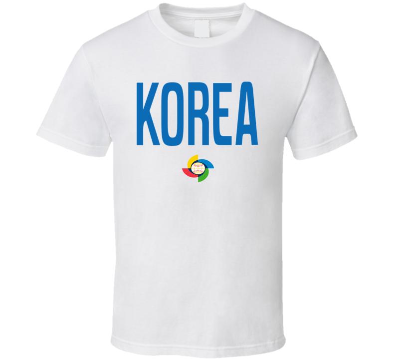 World Baseball Classic 2017 Korea logo fan t-shirt