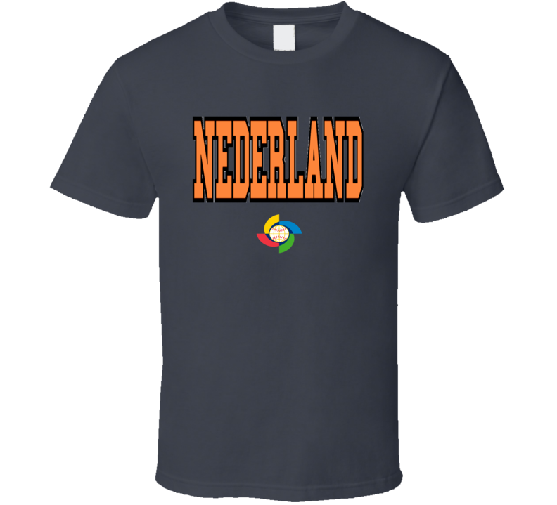 World Baseball Classic 2017 Netherlands Nederland logo fan t-shirt