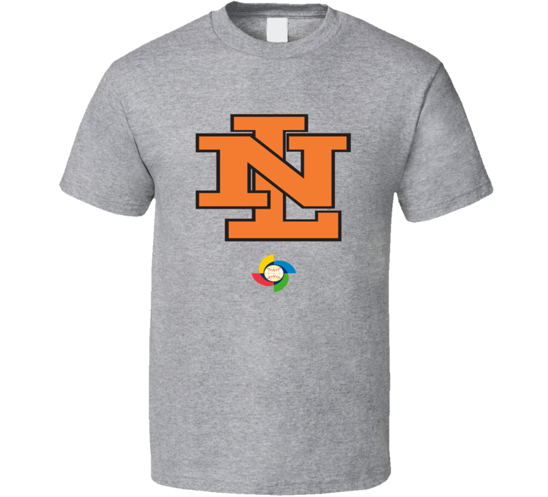 World Baseball Classic 2017 Netherlands Nederland logo fan t-shirt 2