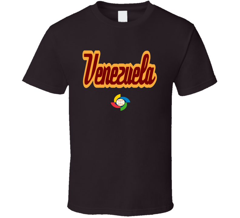 World Baseball Classic 2017 Venezuela logo fan t-shirt
