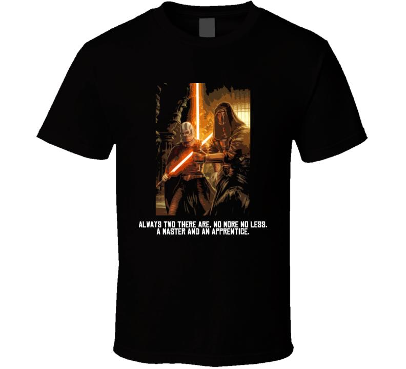 Star Wars Darth Malak Revan Sith Knights of the Old Republic T Shirt