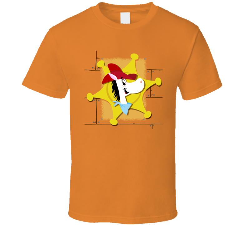 Quick Draw McGraw retro TV cartoon distressed vintage style fan t-shirt