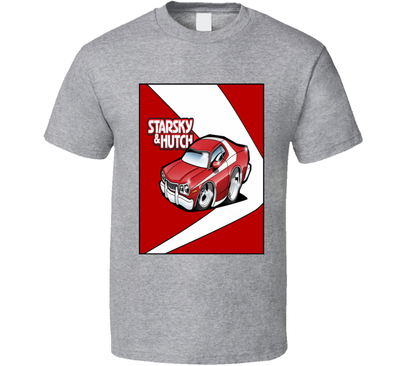 Starsky and Hutch Grand Torino muscle car TV Police car fan t-shirt