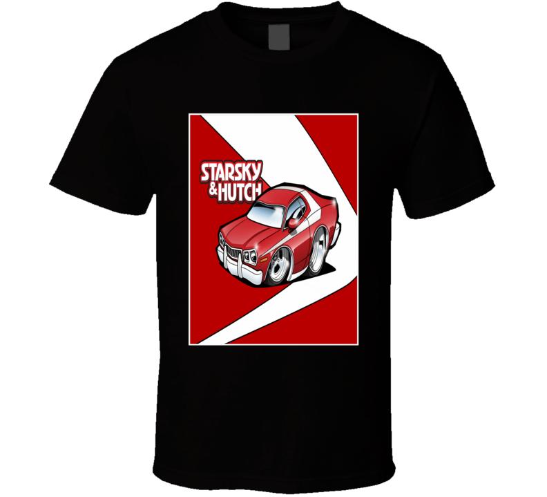 Starsky and Hutch Grand Torino muscle car TV Police car fan t-shirt 2