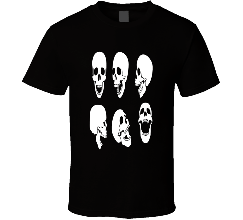 Laughing Skulls rock and Roll Biker style Hipster t-shirt