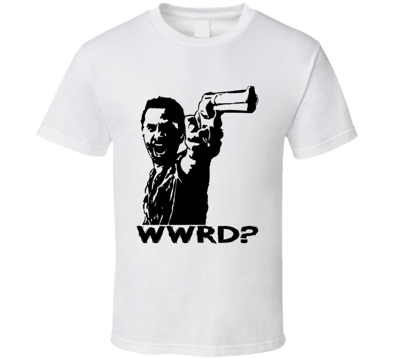 Walking Dead Rick Grimes What Would Rick Do WWRD fan t-shirt