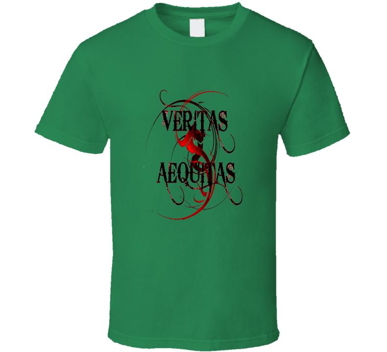 Boondock Saints Veritas Aequitas movie fan trending t-shirt
