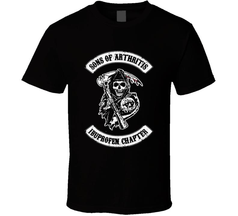 Sons of Arthritis Ibuprofen Chapter SOA parody Anarchy fan t-shirt