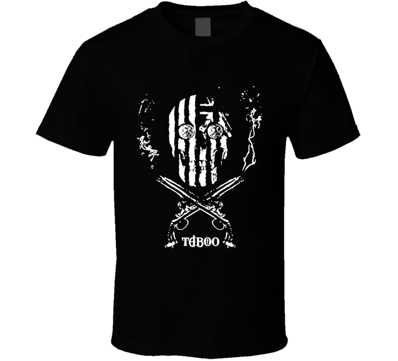 Taboo Skull and revolvers TV show logo Tom Hardy historic epic fan t-shirt