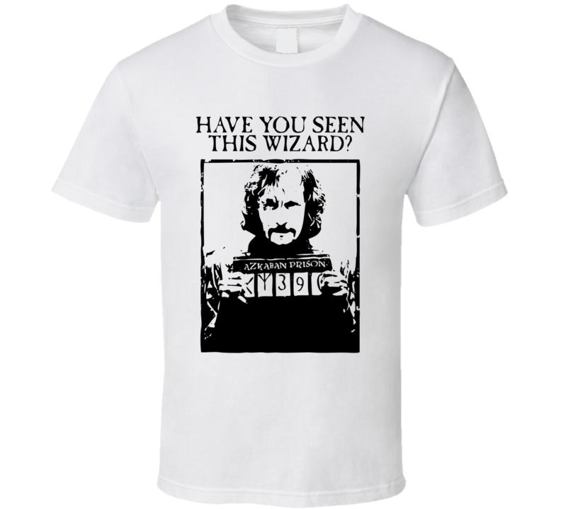 Harry Potter inspired Prisoner of Azkaban wizard mug shot trending fan t-shirt