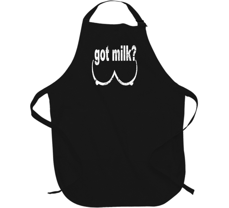 Funny Boobs milk TV Sports Health Education distressed Apron t-shirt 2