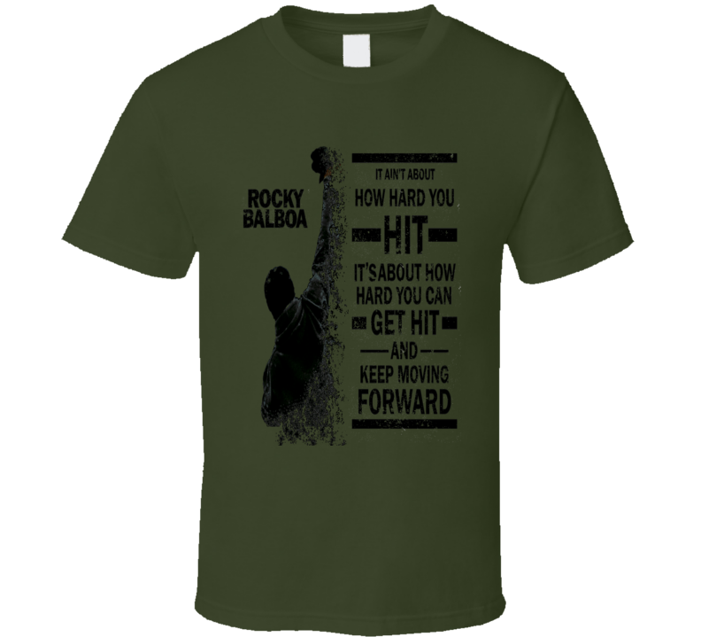 Rocky Balboa Sylvester Stallone Classic Boxing movie quote trending fan t-shirt