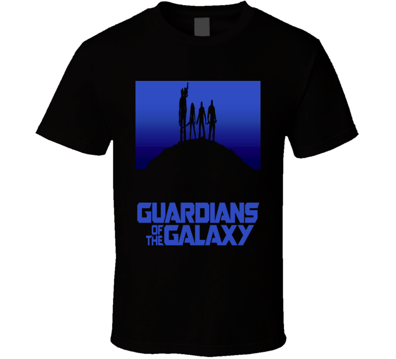 Guardians of the Galaxy Comics SciFi movie silhouette t-shirt