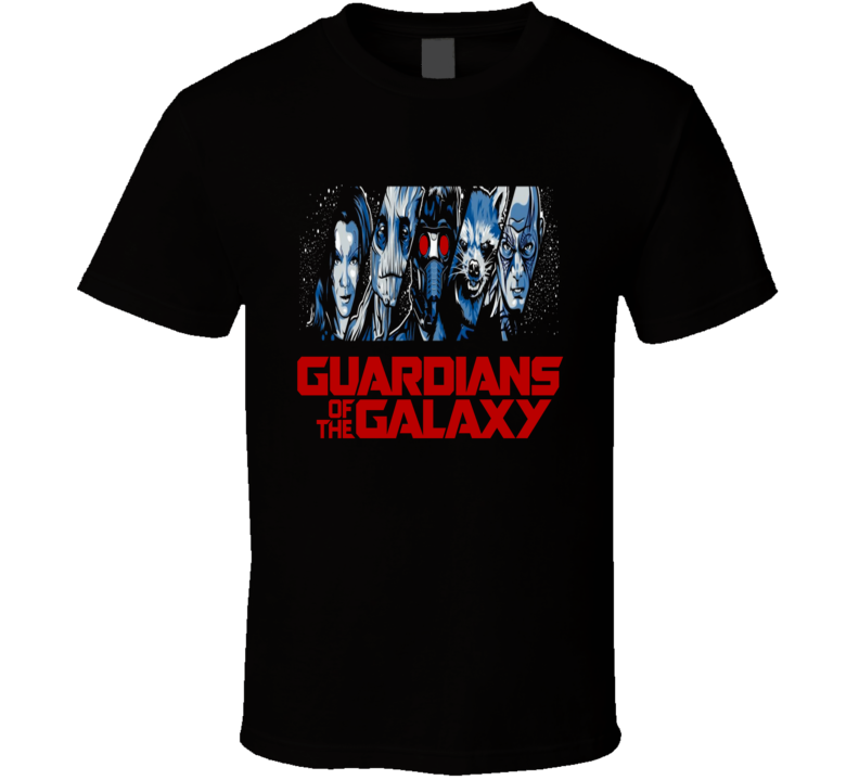 Guardians of the Galaxy cool character and logo fan favorite trending Star Lord t-shirt