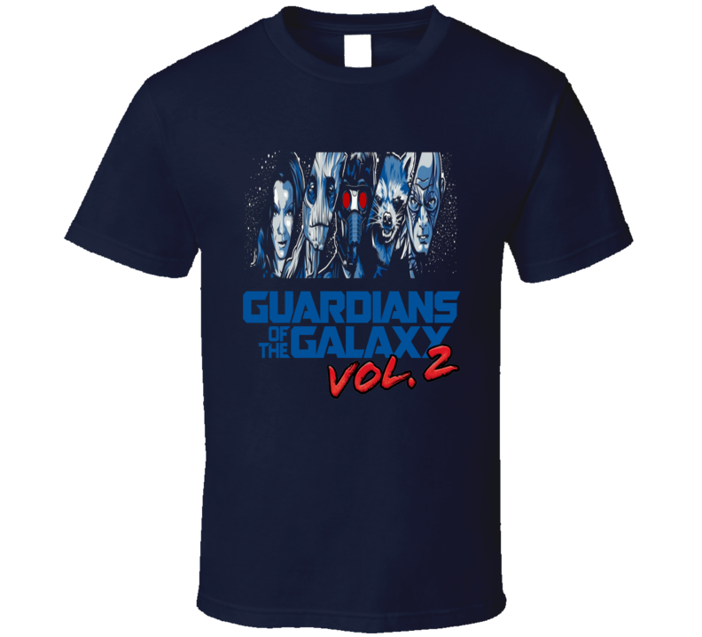 Guardians of the Galaxy Vol 2 cool character and logo fan favorite trending Star Lord t-shirt