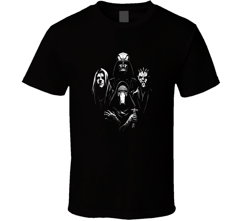 Star Wars Villain collage Vader,Sith,Sidious,SciFi Geek fan trending t-shirt