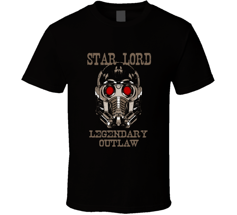 Star Lord Legendary Outlaw Guardians Galaxy Vol 2 film fan t-shirt