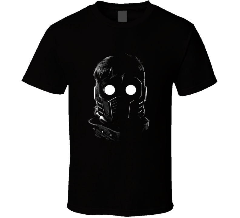Chris Pratt Star Lord mask Guardians movie fan t-shirt