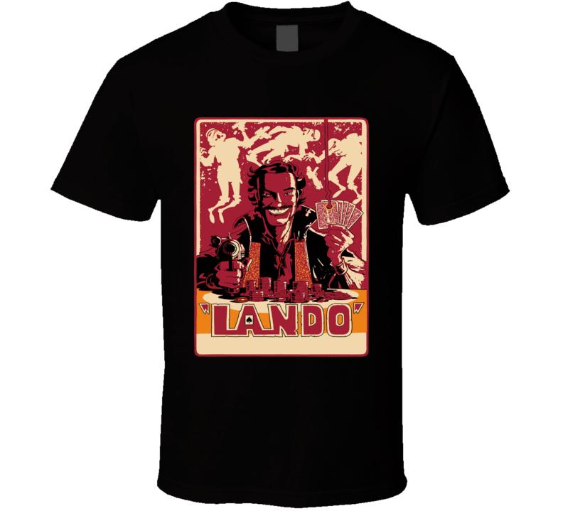 Star Wars Lando retro western style poster fan t-shirt