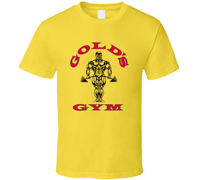Gold's Gym logo exercise work out yoga zumba muscle t shirt