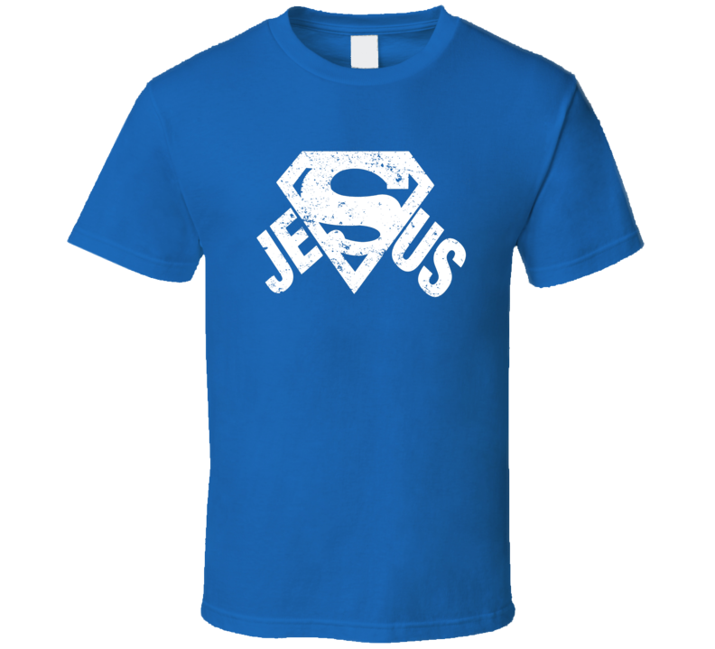 Superman Jesus logo heros Christian cool faith t-shirt 2