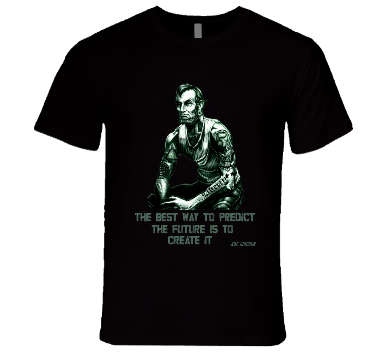 Abraham Lincoln buff tattoos hipster quote US President collection t-shirt