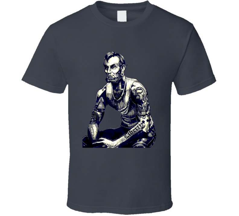 Abraham Lincoln buff tattoos hipster US President collection t-shirt