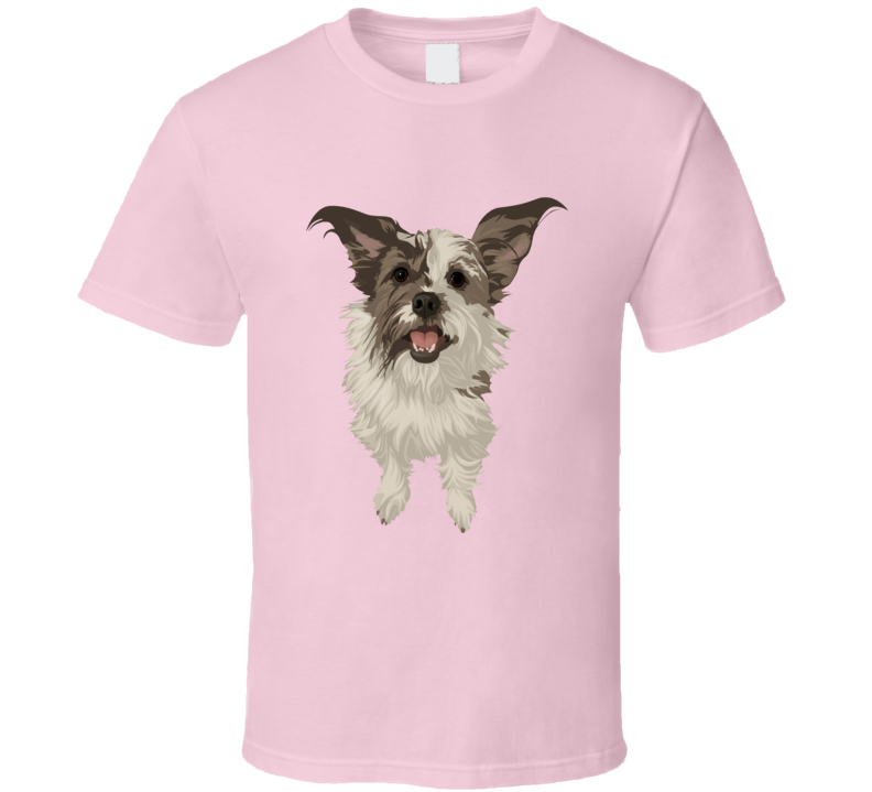 Cute pet dog Terrier poodle bijon animal lover series t-shirt