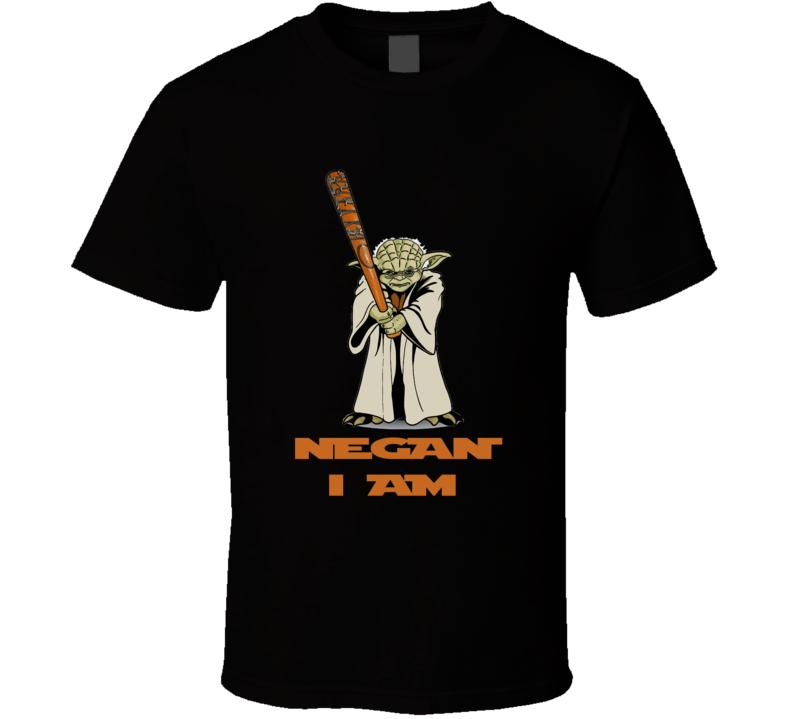 Walking Dead Star Wars Mash up Yoda Negan Lucille bat t-shirt