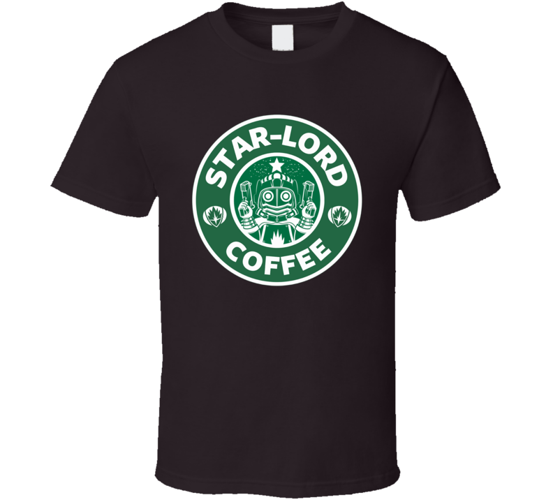 Star Lord Coffee Guardians of the Galaxy funny mash up logo t-shirt 3